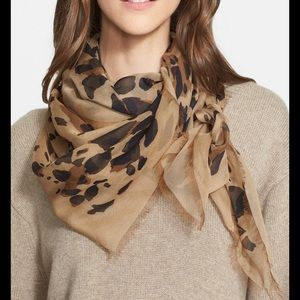 Burberry Leopard Silk Scarf- PRICE IS FINAL